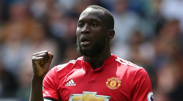 Manchester United's Romelu Lukaku celebrates after scoring the second goal in the 4-0 win at Swansea