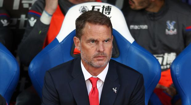 Crystal Palace manager Frank de Boer has lost his first three Premier League matches