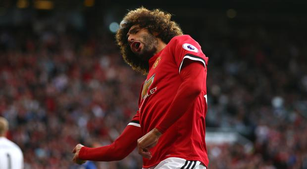 Marouane Fellaini was one of two substitutes to score