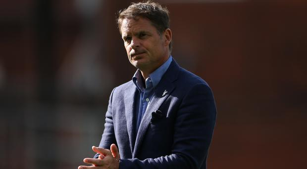 Crystal Palace manager Frank de Boer blamed a lack of courage from his players on a third straight Premier League defeat.