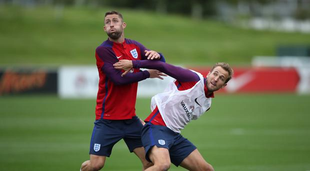 Harry Kane (right) is hoping to rediscover his goal-scoring touch during the international break