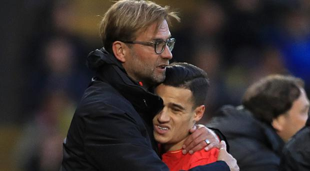 Jurgen Klopp was happy to keep hold of Philippe Coutinho, but had to begin the Premier League season without one of his key players as Barcelona attempted to lure him away.