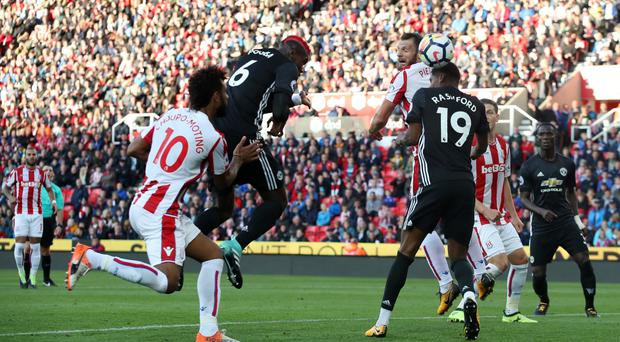 Stoke's Eric Choupo-Moting hits double to hold Manchester United to draw