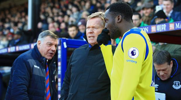 Romelu Lukaku, right, will face Ronald Koeman's side for the first time since his move