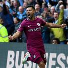 Sergio Aguero and Manchester City were terrific at Watford on Saturday