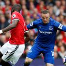 Wayne Rooney returned to Old Trafford to face former club Manchester United with Everton
