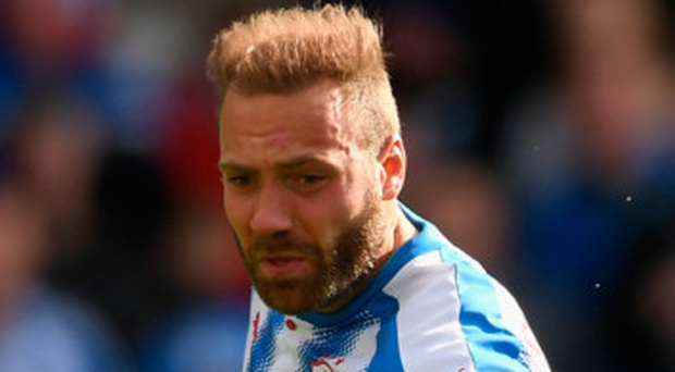 Huddersfield striker Laurent Depoitre