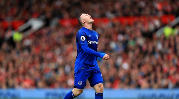 Wayne Rooney endured a frustrating return to Old Trafford with Everton