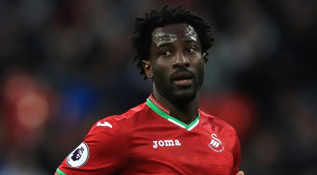 Wilfried Bony is awaiting his first Premier League start since returning to Swansea