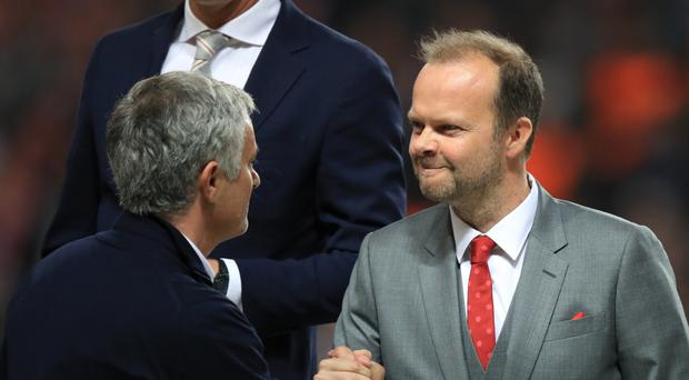 Manchester United executive vice-chairman Ed Woodward revealed the club's increase in revenue