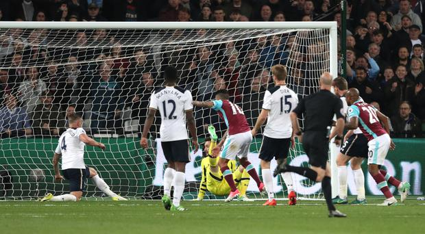 West Ham beat Tottenham towards the end of last season