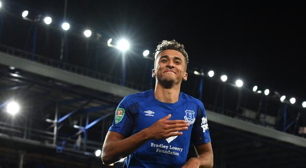 Dominic Calvert-Lewin scored twice for Everton on Wednesday.
