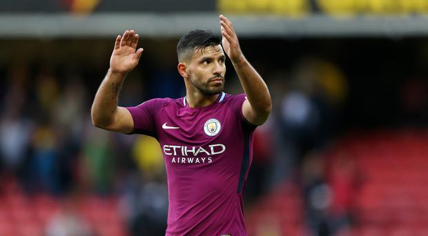Sergio Aguero is close to becoming Manchester City's all-time record scorer