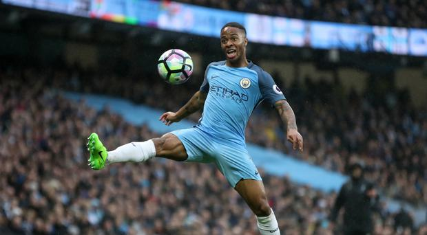 Raheem Sterling scored twice for Manchester City against Crystal Palace