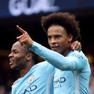 Raheem Sterling, left, and Leroy Sane, right, tormented Crystal Palace