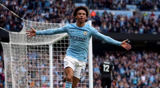 Leroy Sane opened the scoring for Manchester City on Saturday