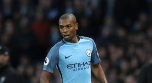 Fernandinho featured in Manchester City's 5-0 thrashing of Crystal Palace