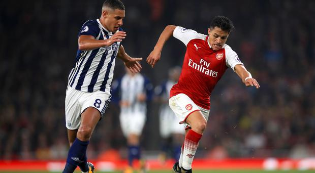 Arsenal's Alexis Sanchez was accused of