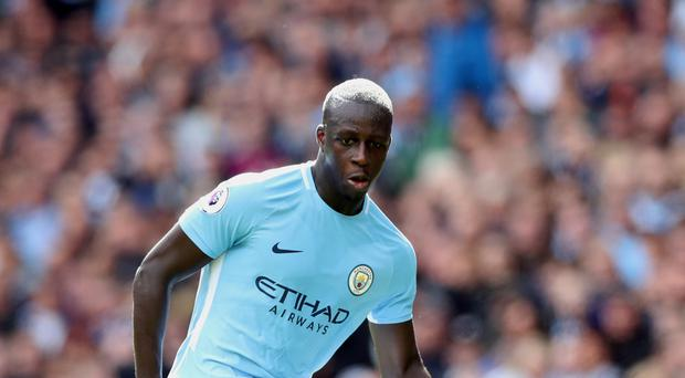 Manchester City's Benjamin Mendy will be assessed in Barcelona this week