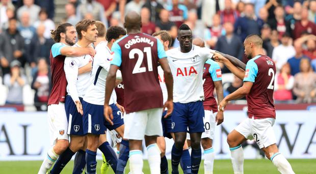 West Ham and Tottenham have been charged with failing to control their players during last Saturday's Premier League match