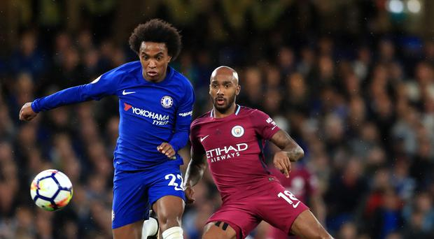 Fabian Delph, pictured right, described Manchester City's win at Chelsea as