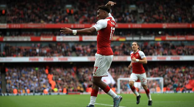 Alex Iwobi's goal gave Arsenal some breathing room