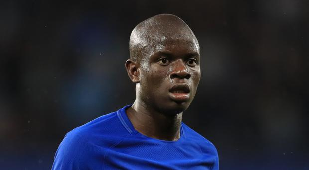 Chelsea midfielder N'Golo Kante is a doubt for Saturday's Premier League clash at Crystal Palace with a hamstring injury
