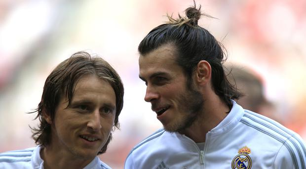 Could Luka Modric, left, and Gareth Bale be on their way back to Tottenham?