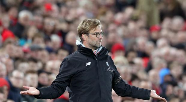 Liverpool manager Jurgen Klopp was bemused by claims his long-held ambition was to join Manchester United.
