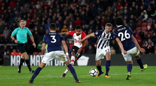 Southampton's Sofiane Boufal, centre, sent a message to his manager with a fine winner against West Brom