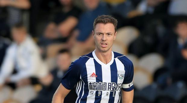West Brom captain Jonny Evans was withdrawn injured during the defeat to Southampton.