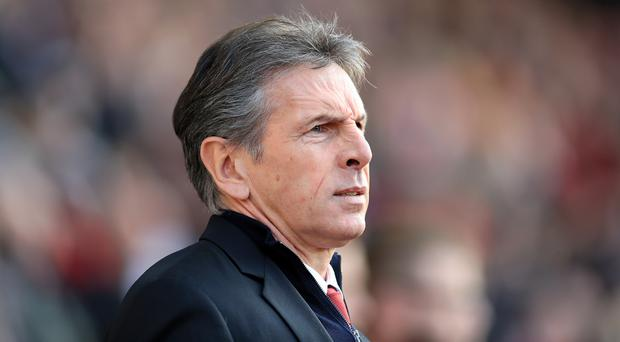 Claude Puel will take charge of Leicester against Everton this weekend