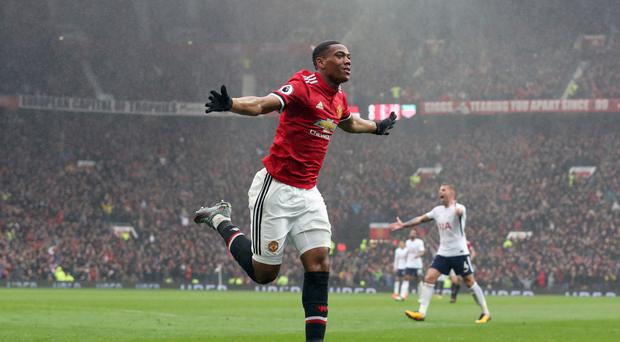 Anthony Martial scored the only goal of the game for Manchester United