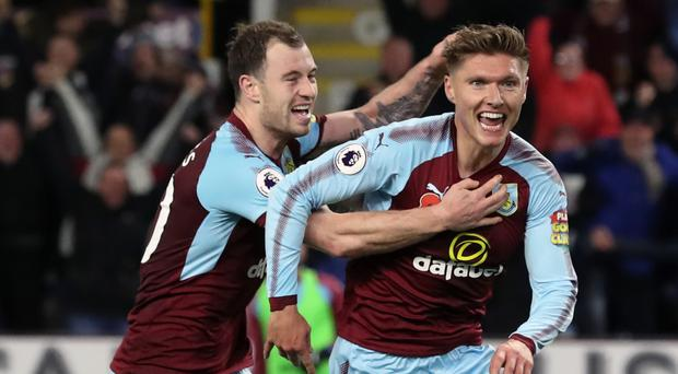 Jeff Hendrick, pictured right, was Burnley's match-winner against Newcastle