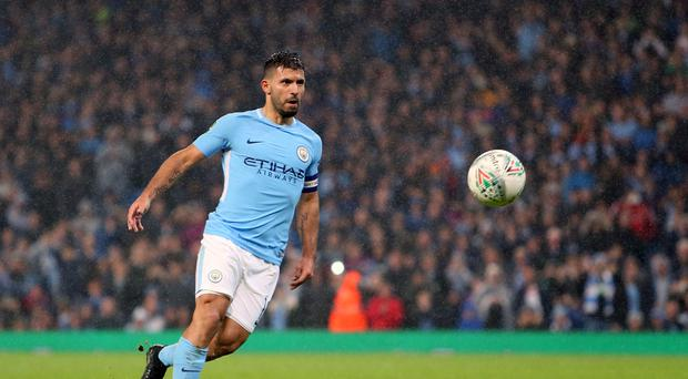 Sergio Aguero scored his 178th goal for Manchester City against Napoli