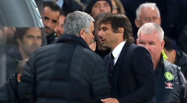 Jose Mourinho, left, and Antonio Conte have not always seen eye to eye