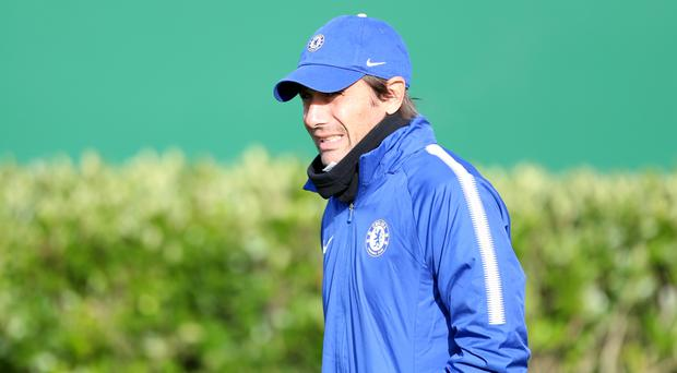 Chelsea have reportedly played down talk of a rift between Antonio Conte, pictured, and Roman Abramovich