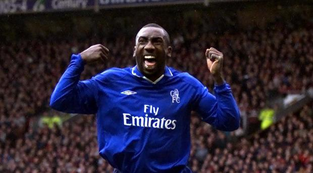 Chelsea's Jimmy Floyd Hasselbaink scored a memorable goal against Manchester United