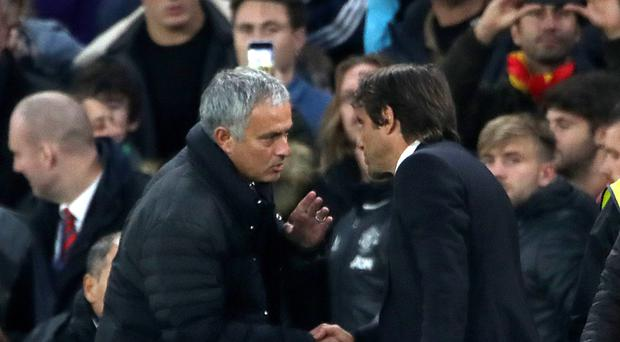 Jose Mourinho's Manchester United face Antonio Conte's Chelsea on Sunday in the Premier League