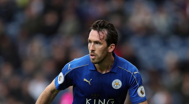 Christian Fuchs started in Claude Puel's first Leicester game, a 2-0 win over Everton.