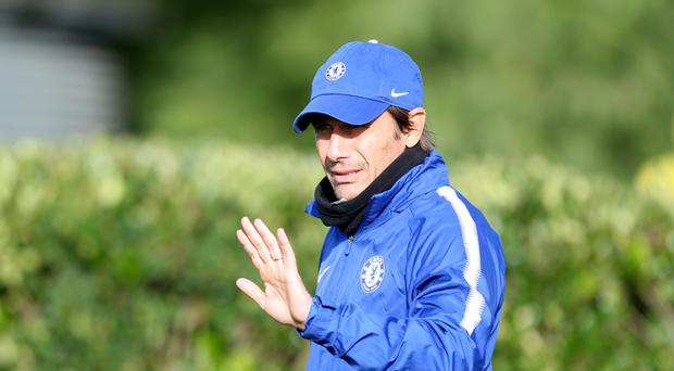 Chelsea head coach Antonio Conte has told his players to show their character in difficult times when Manchester United visit on Sunday