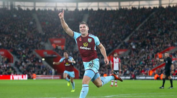 Sam Vokes scored Burnley's winner