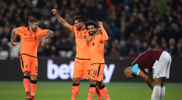 Liverpool romped to a 4-1 win at West Ham