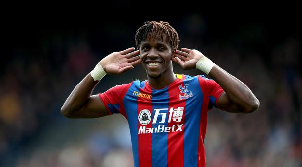Wilfried Zaha was Crystal Palace's main threat against Spurs