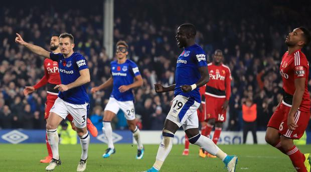 Leighton Baines (left) scored a late winner