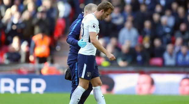 Harry Kane took a knock on his foot against Crystal Palace on Sunday
