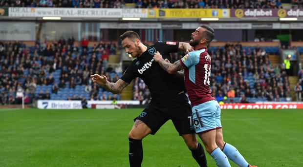 Marko Arnautovic, left, has yet to shine for West Ham