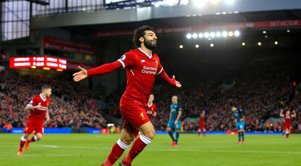 Liverpool winger Mohamed Salah is the Premier League's leading goalscorer