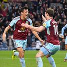 Burnley's Jack Cork opened the scoring against his former club Swansea