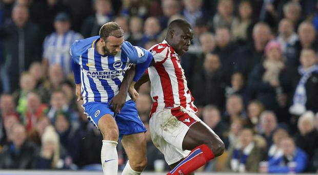 Glenn Murray, left, helped stretch Brighton's unbeaten run to five matches against Stoke